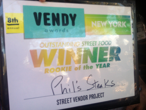2012 Vendy Award for Rookie of the Year (Best New Food Truck) - Phil's Steaks