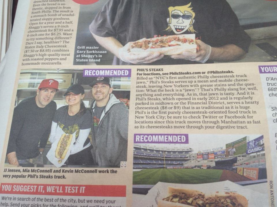 Phil's featured in the NY Daily News!